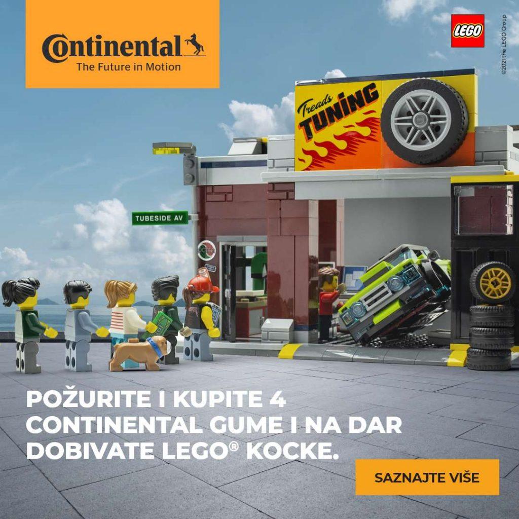 Kupite 4 Continental gume i na poklon dobivate Lego kocke