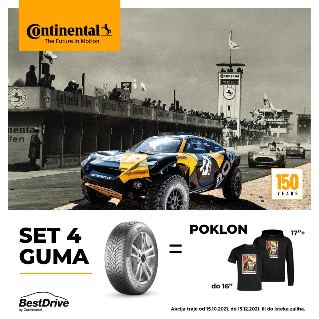 Svaki kupac 4 Continental gume dobija poklon
